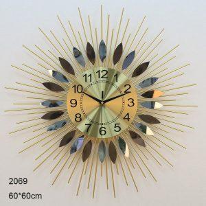 Circular Leaf Glass Wall Clock Merrylands, Sydney