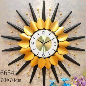 Black Star with Golden Petals Wall Clock Merrylands, Sydney