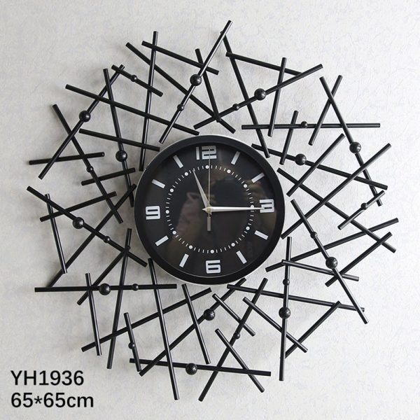 Criss Cross Black Wall Clock Merrylands, Sydney