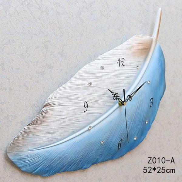 Bluish White Feather Wall Clock Merrylands, Sydney
